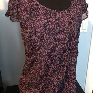 Beautiful purple and black top with great detail